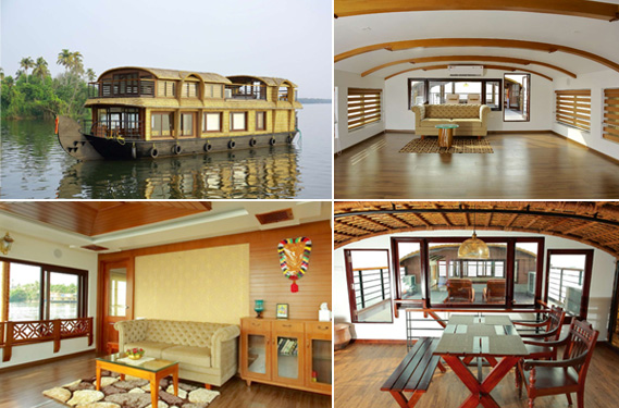 Kerala houseboats, bedrooms, food